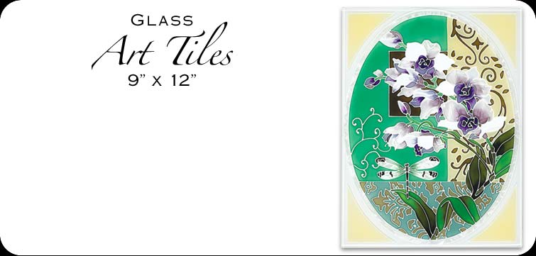 Hand Painted Glass Art Tiles
