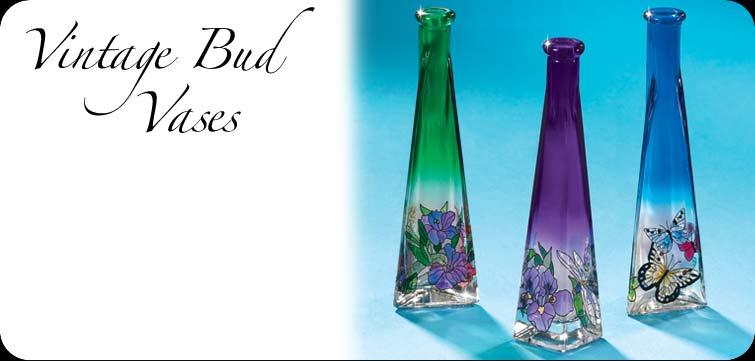Hand Painted Glass Art Vintage Bud Vases Make Perfect Gifts And Home