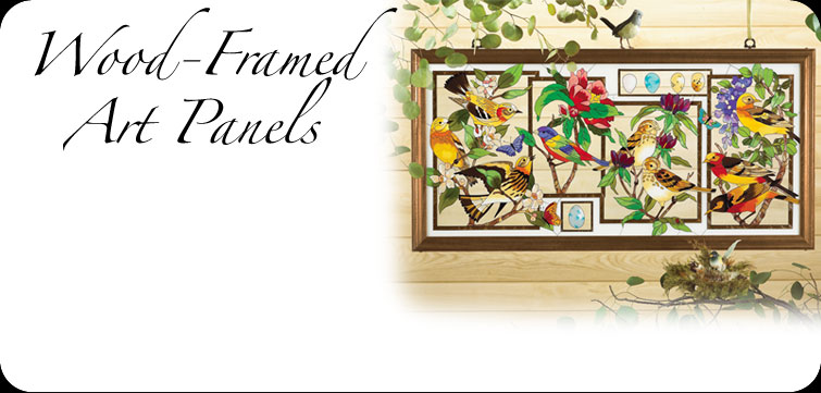 hand painted glass art wood framed art panels make perfect gifts and