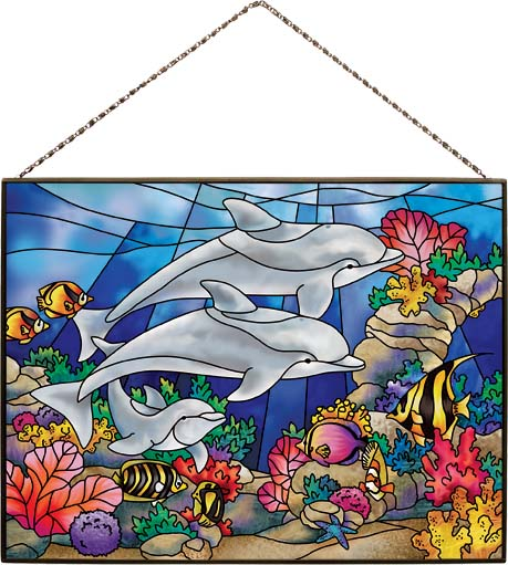 Art Panel-AP113R-Dolphins - Dolphins