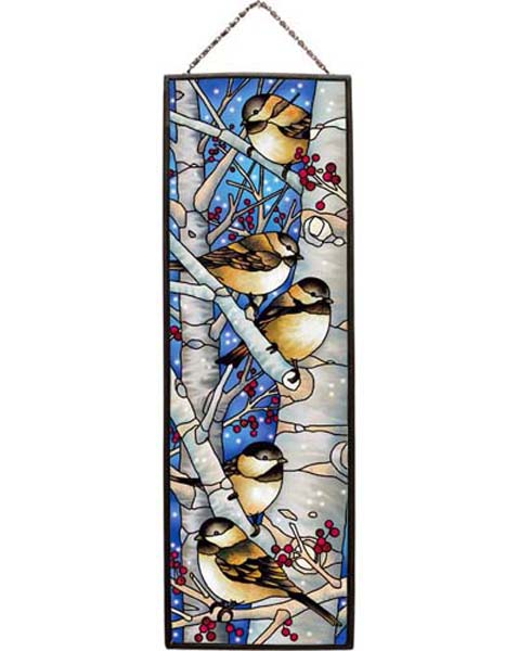 Art Panel-AP237R-Chickadees in the Snow - Chickadees in the Snow