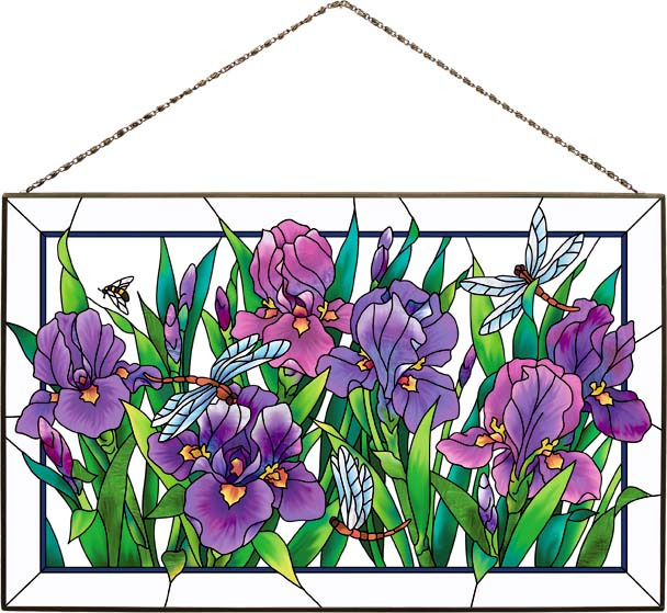 Art Panel-AP356R-Purple Irises - Purple Irises