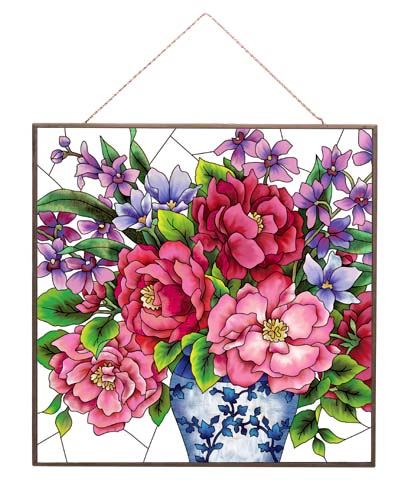 Art Panel-APM121R-Peonies in Vases - Peonies in Vase