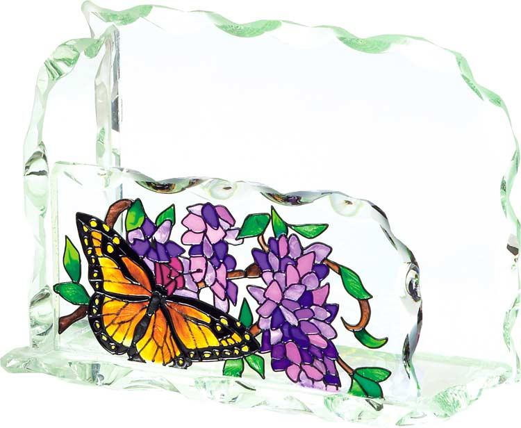 Business Card Holder-BCH1006-Wings & Wisteria - Wings & Wisteria