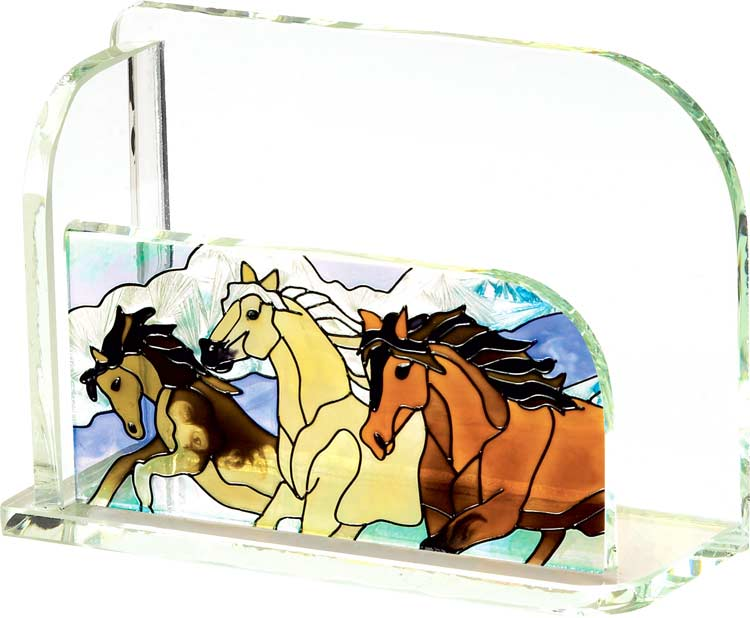 Business Card Holder-BCH2006-Wild Horses - Wild Horses