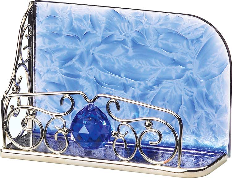 Business Card Holder-BCH3008-Blue - Blue