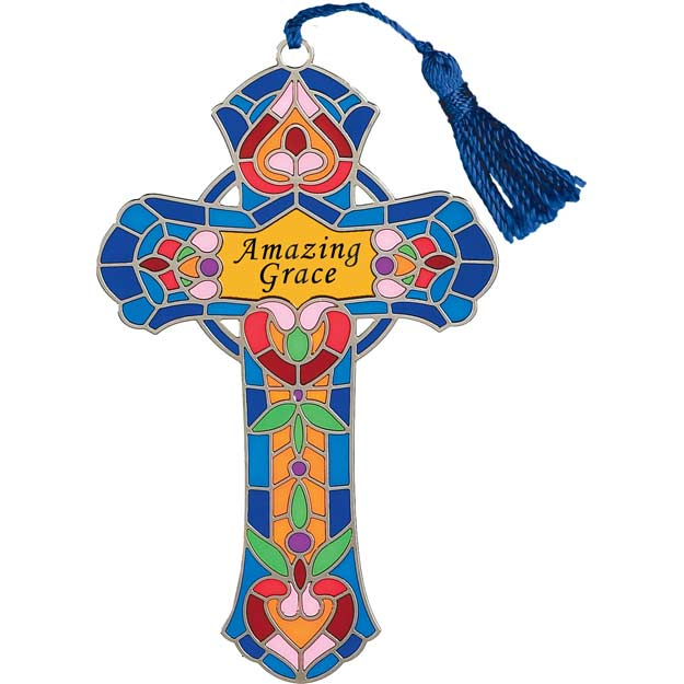 Bkmk/Magnt-BMM1004-Stained Glass hearts/Amazing Grace - Stained Glass hearts/Amazing Grace
