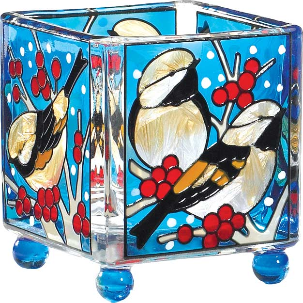 Candleware-CCM3007-Chickadees in the Snow - Chickadees in the Snow