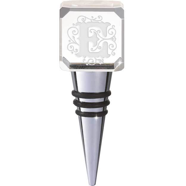Crystal-CYB-E-Crystal Bottle Stopper - E - Crystal Bottle Stopper - E