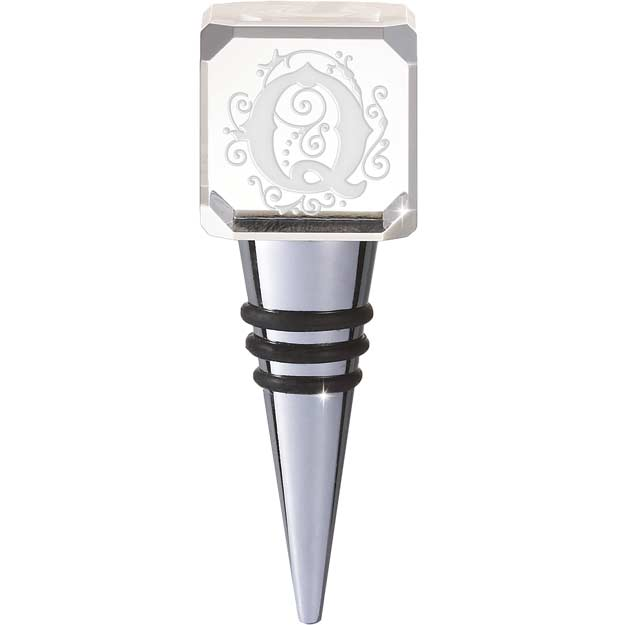 Crystal-CYB-Q-Crystal Bottle Stopper - Q - Crystal Bottle Stopper - Q