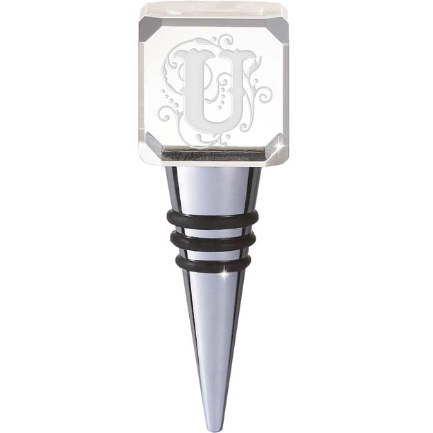 Crystal-CYB-U-Crystal Bottle Stopper - U - Crystal Bottle Stopper - U