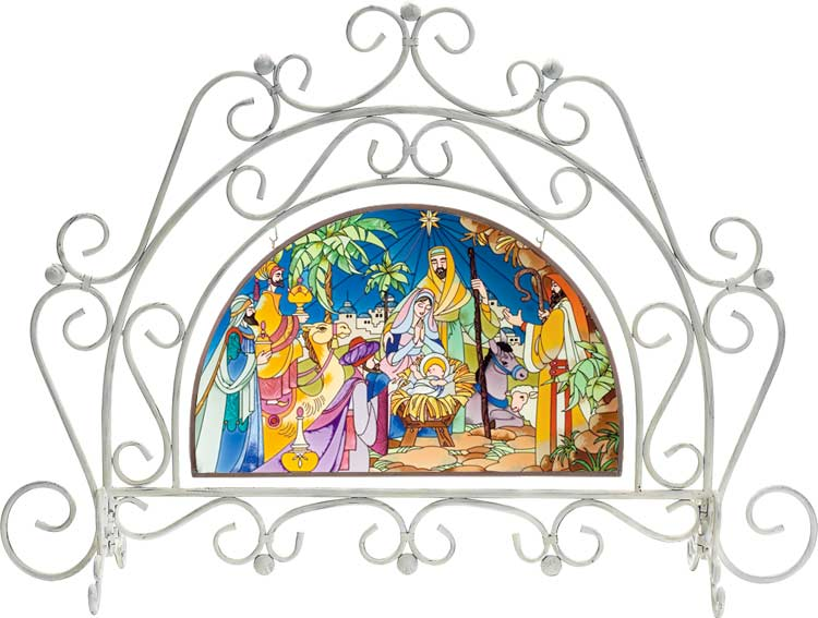 Arched Fireplace Screen with APM304 Art Panel - Arched Fireplace Screen with APM304 Art Panel