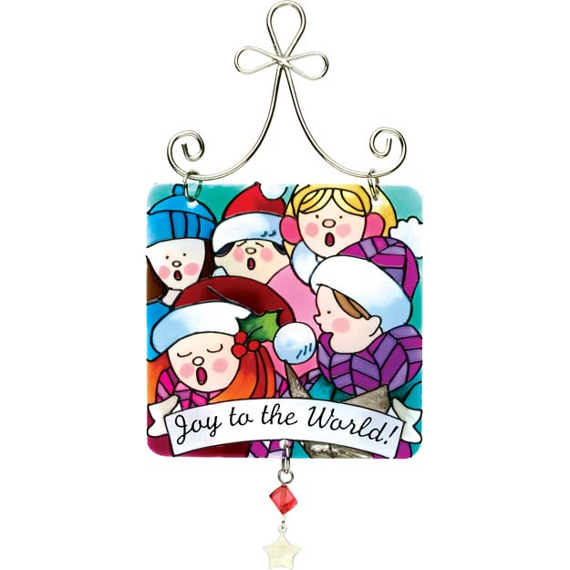 Suncatcher-JSW152-Carolers/Joy to the World! - Carolers/Joy to the World!