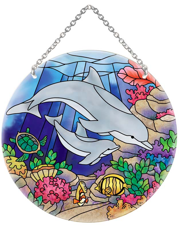 Suncatcher-LC202R-Dolphins - Dolphins