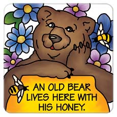 Large Magnet-LMG294R-Honey Bear      - Honey Bear