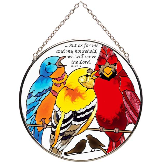 Suncatcher-MC305-Birds on a Wire//...but as for - Birds on a Wire//...but as for