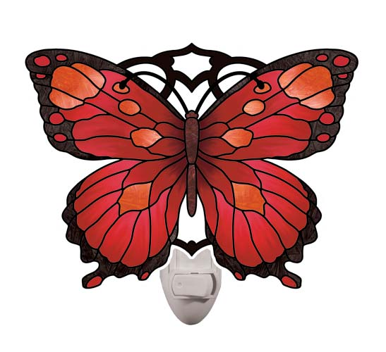 Nightlight-NL5002-Red/Black Butterfly - Red/Black Butterfly