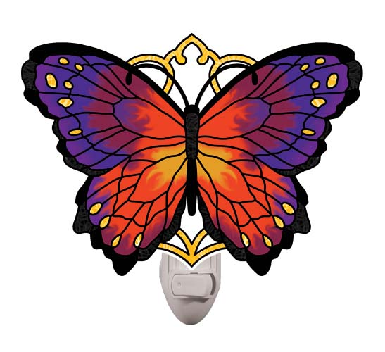 Nightlight-NL5003-Purple/Orange Butterfly - Purple/Orange Butterfly