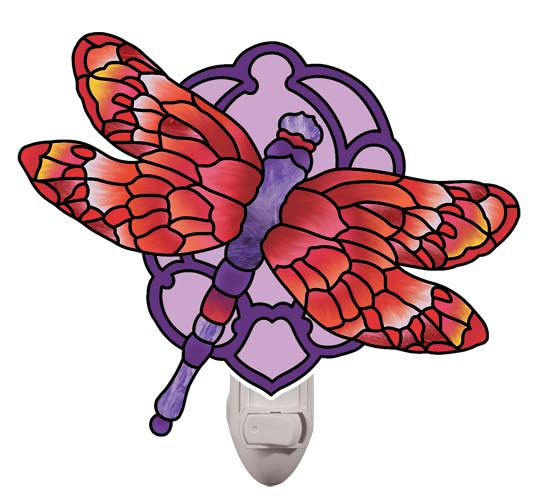 Nightlight-NL5015-Red/Purple Dragonfly - Red/Purple Dragonfly