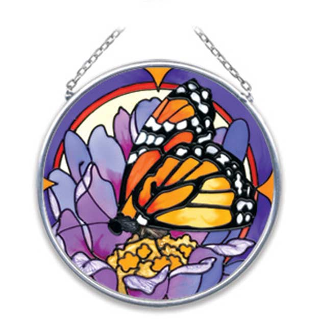 Suncatcher-SC086-Purple Butterfly - Purple Butterfly