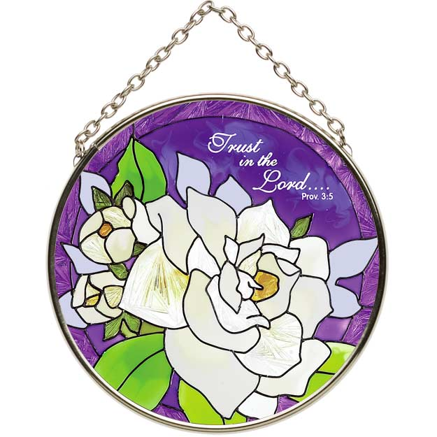 Suncatcher-SC159-Gardenias/Trust in the Lord.. - Gardenias/Trust in the Lord..