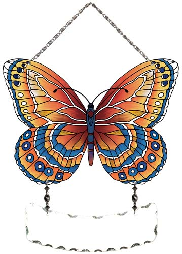 Suncatcher-SFS2007-Orange/Blue Butterfly - Orange/Blue Butterfly