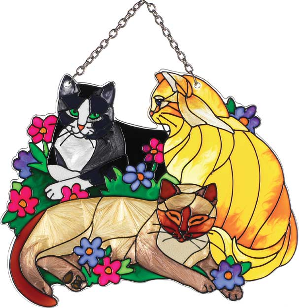 Suncatcher-SSD1031-Tiffany Cats - Tiffany Cats
