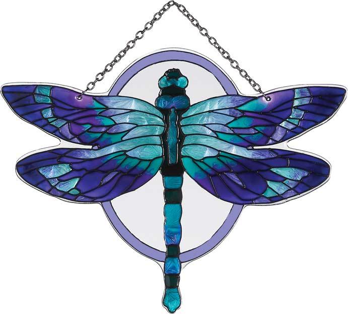 Suncatcher sse1020 purple teal dragonfly purple teal dragonfly