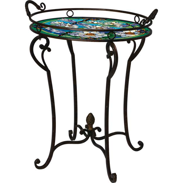 Art Table-TA703B-Dragonfly/Water Lilies - Dragonfly/Water Lilies