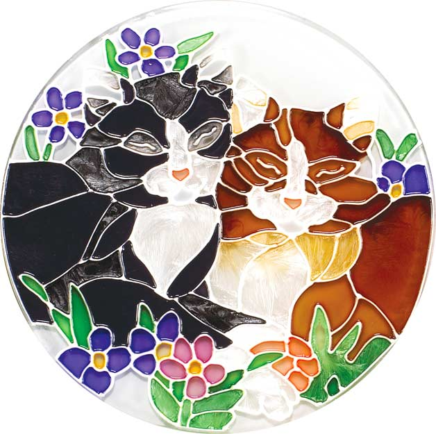 Coaster Set-TCS004-Tiffany Cats - Tiffany Cats