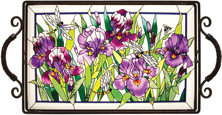 Tray-TR203-Purple Irises - Purple Irises