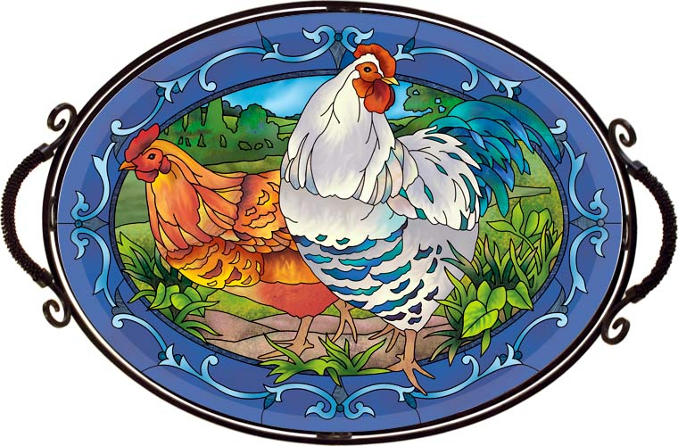 Tray-TR313R-Country French Hens - Country French Hens