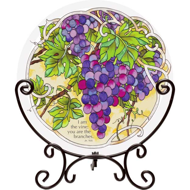 Tabletopper-TT151-Grape Arbor/I am the vine; you are... - Grape Arbor/I am the vine; you are the branches. Jn. 15:5