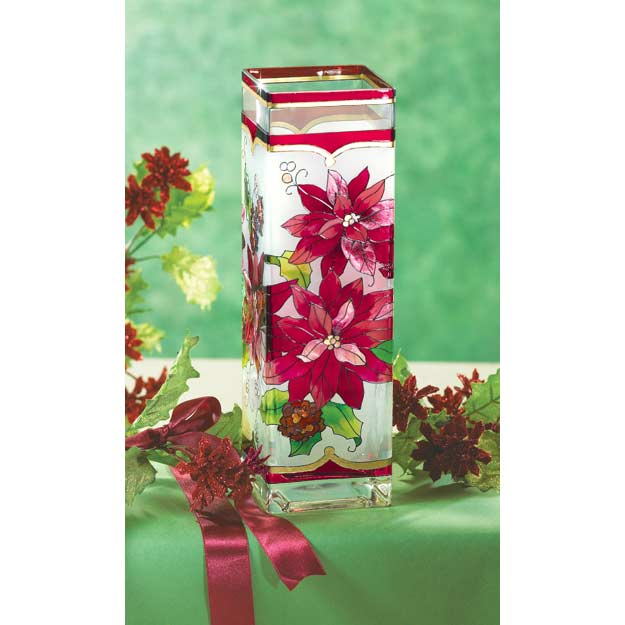 Vase-VAS1006-Poinsettias - Poinsettias
