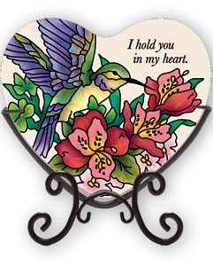 Candleware-VMC219R-Hummingbird/Lilies/I hold you in my heart - Hummingbird/Lilies/I hold you in my heart