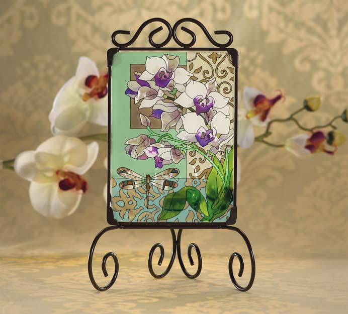 Candleware-WCL043-Orchids & Dragonfly - Orchids & Dragonfly