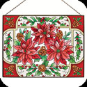 Art Panel-AP139R-Poinsettias - Poinsettias