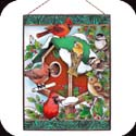 Art Panels-AP155R-Winter Birdhouse & Birds - Winter Birdhouse & Birds