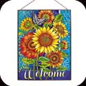 Art Panels-AP156R-Sunflowers/Welcome - Sunflowers/Welcome