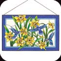 Art Panel-AP314R-Daffodil/Hummingbirds - Daffodil/Hummingbirds