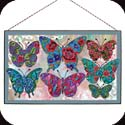 Art Panel-AP326R-Patterned Butterflies - Patterned Butterflies