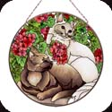 Art Panels-AP4013R-Cats & Geraniums - Cats & Geraniums