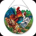 Art Panels-AP4014R-French Country Roosters - French Country Roosters