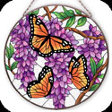 Art Panel-AP402R-Wings & Wisteria - Wings & Wisteria