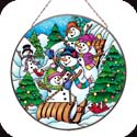 Art Panel-AP433R-Snowmen - Snowmen