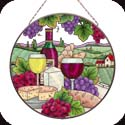Art Panel-AP457R-Wine & Cheese - Wine & Cheese