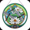 Art Panel-AP466R-Dragonfly/Water Lilies - Dragonfly/Water Lilies