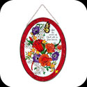 Art Panel-AP727R-Jewel Bouquet/Let the peace of God... - Jewel Bouquet/Let the peace of God rule in your heart.  Col. 3:15