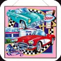 Art Panel-APM118R-Classic Cars/Joe's Diner Fine - Classic Cars/Joe's Diner Fine