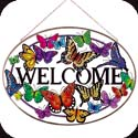 Art Panel-APM712R-Butterflies/WELCOME - Butterflies/WELCOME
